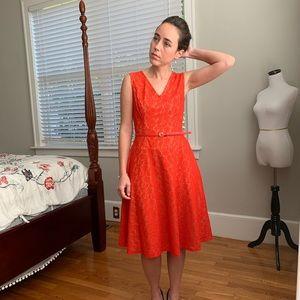 Black Label Red Lace Dress, Size 2